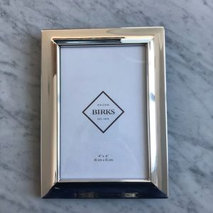 """Birks Silver Plated Picture Frame 4 x 6"""""""